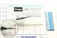 Фреза коцевая, коническая 5°, 4 зуба, сферическая R0,125, хвостовик Ø4мм,  для воска и пластика T40-EB-0125R
